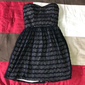Strapless black/nude dress